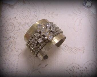 Vintage Upcycled Cuff -  Bracelet