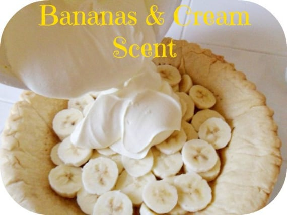 BANANAS & CREAM Scented Soy Wax Melt - Soy Tarts - Air Freshener - Wickless Candle Melts - Highly Scented - Hand Made In USA - Clamshell