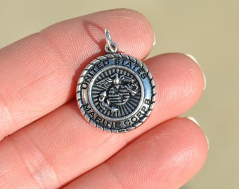 5 Silver Marine Corp Charms SC3048