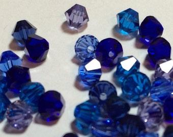 Swarovski 4mm Crystal Blueberry Mix -4mm -60 ct