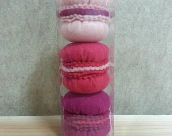 Felt Food Macaroons - Pink