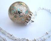 Love Ya, Beach! Holo Globe Nail Polish Pendant Necklace - Nail Polish Jewelry