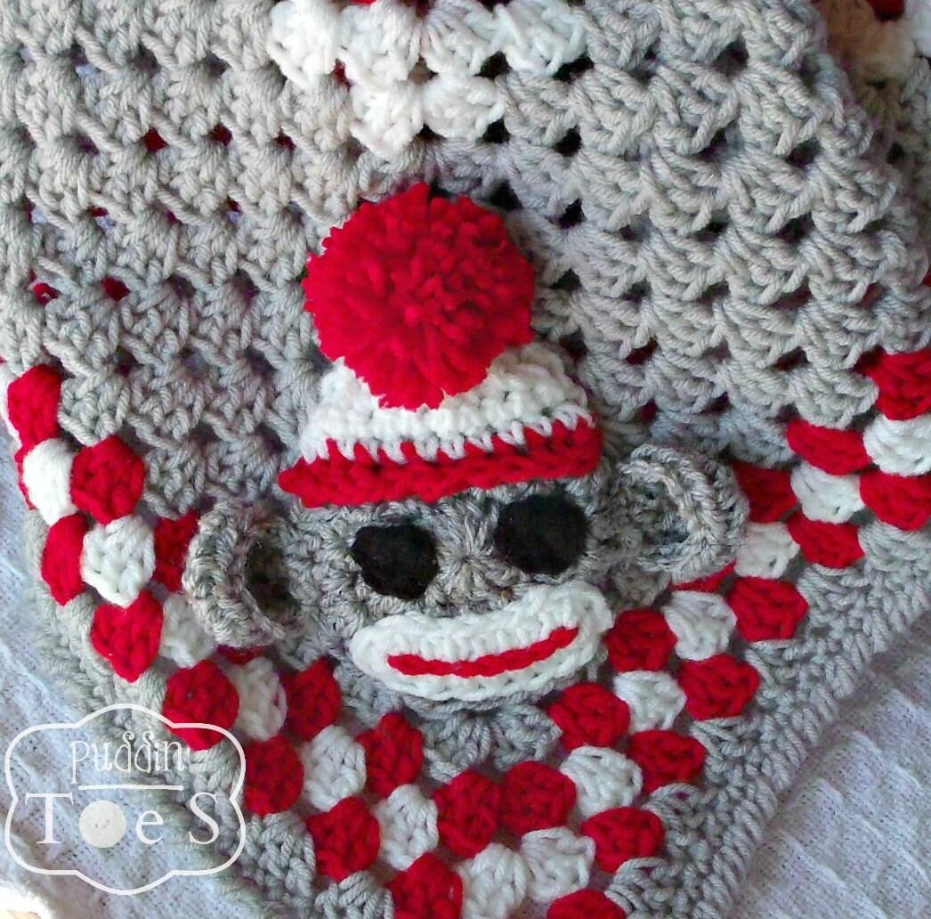 Sock Monkey Baby Blanket Crochet Baby Blanket Sock Monkey
