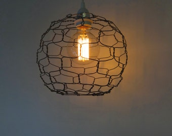 Wire  Pendant Lamp Sphere