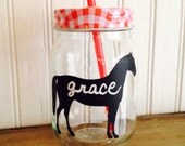 9 Horse Chalkboard Labels, Chalkboard Mason Jar Labels, Western Wedding, Horse Birthday Party Labels