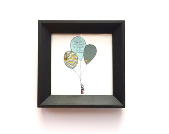 Framed Mini Print - Believe in the Wonderful Illustration in Locally Made Frame - Nursery Children - Love Letters to Littles Series