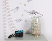 Mini Fabric Wall Decal - Dinosaur Invasion (reusable) NO PVC