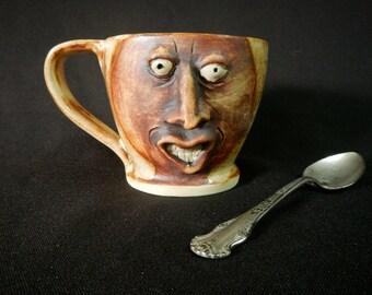 Funky Guy Stoneware Face Mug