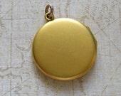 Antique Edwardian Gold Filled Locket Pendant