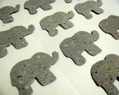 Noah's Ark Elephant Baby Shower Favor - Seed Paper Baby Shower Favor - Plantable Paper