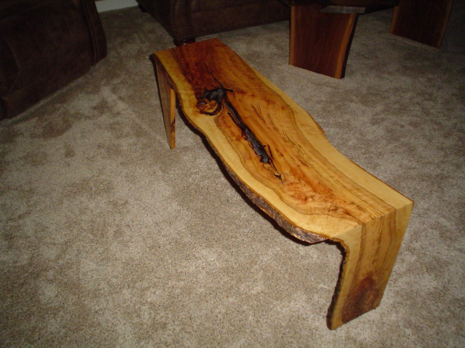 Coffee Table Live Edge Wild Olive Wood 43 X 13