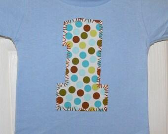 blues & browns 1 party shirt ... boys 1st birthday