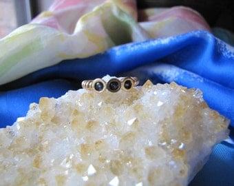 Vintage 14Kt Gold Blue Sapphire  Ring  Wedding-Engagement Ring/ Stacking  Gold Sapphire Ring