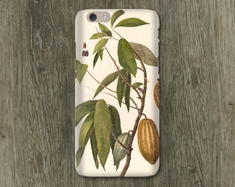 Chocolate Botanical iPhone 6S Case, Chocolate Lover's Gift iPhone 6 Case Cocoa Bean iPhone 5S Case, iPhone 6 Plus Case