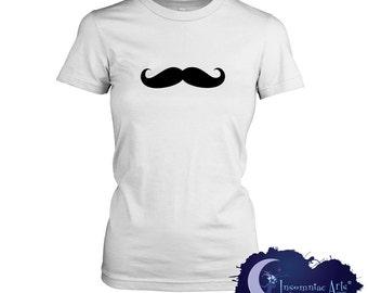 Moustache Party Ladies T-Shirt