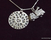 Female Firefighter necklace, Girl firefighter quote, Female Firefighter charm, Female Firefighter quote, Silly boys firetrucks are for girls