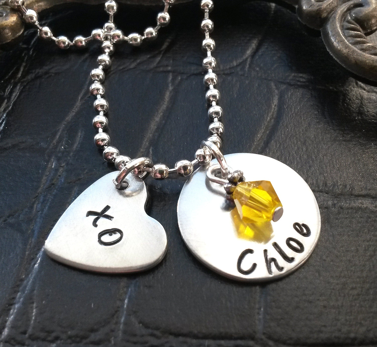 childrens necklace personalized child name necklace
