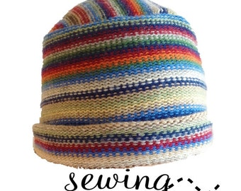 Bobbi Jo Hat - Upcycled Sweater and Fleece Hat - INSTANT DOWNLOAD -PDF Sewing Pattern