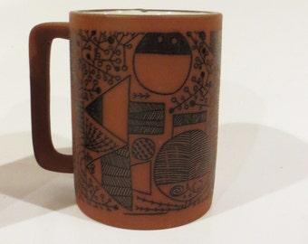Mid century modern Graphics Mugs- 2 mugs free shipping