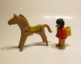 Playmobil-Native American female with horse