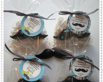 Custom Listing-65 Mustache Soap Party Shower Favors (Tags Included)