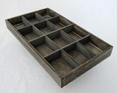 Rustic Antique Coffee Color Bead Sorting Tray With 12 Slots SALE