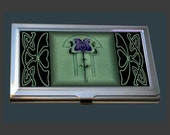 Business Card Case - featuring an Art Nouveau Tile.