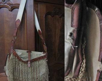 Authentic Sport Bag Canvas Leather