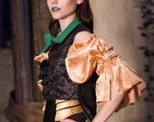 Loki Inspired Steampunk Custom Corset and Demi Jacket