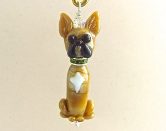 French Bulldog Ornament or Pendant - Lampwork Glass Bead Creation SRA