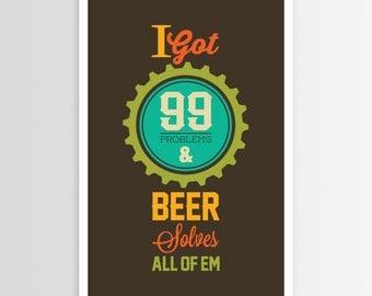 Alpha Tone's Alcohol Problem Solver Poster