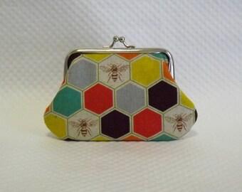 Coin purse - Change Purse - Honey Bee Coin Purse - Honey Bee Change Purse