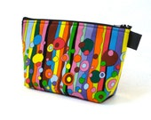 Large Cosmetic Bag Colorful Fabric Zipper Pouch Padded Makeup Bag Cotton Zip Pouch Lulella Doss Hot Flash Up for Air