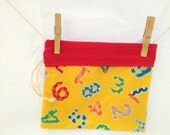 Reversible Project Bag, Counting Numbers, Red and Yellow, Medium