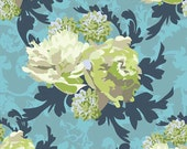 "Sale Riley Blake Designs ""Vintage Verona"" 100% cotton quilting fabric blue green floral"