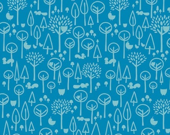 "Riley Blake Designs ""Scenic Route"" by Deena Rutter. Blue Trees. 100% cotton"