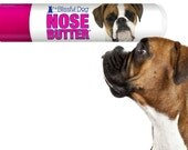 Boxer ORIGINAL NOSE BUTTER® Organic Moisturizing Balm for Dry Crusty Dog Noses .15 oz Tube Fawn, Brindle or Show Boxer Label in Gift Bag