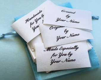 Qty 15 - 1 1/2 x 2 1/2 Inch Sew on Cotton Clothing Labels