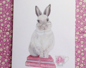 Clever rabbit greeting card