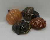 Porcelain Autumn Magnets Set of 4
