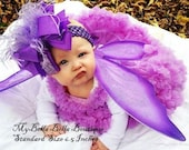 Lavender Hair Bow, Large Hair Bow, Over the Top hairbow, Girls hairbows, Boutique Hair Bow, Purple Hairbow, Baby Headband, Toddler Hairbow