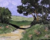 Impressionist Painting CALIFORNIA Plein Air Landscape Lynne French COUNTRY ROAD 11x14