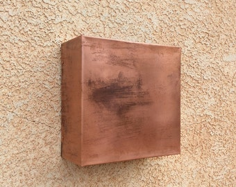 Copper Square Light Sconce-Indoors or Outdoors