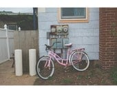 Pink Bicycle Print, 8x12 Print, Dreamy Photography, Montauk Photography, Long Island Art, Montauk New York, Landscape Photography, Bicycle