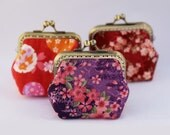 Japanese Floral Summer little coin Purse