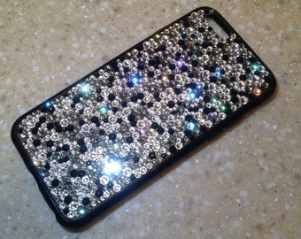 iphone 5/5s, 5c, 6/6s, 6 plus, 6s plus or Samsung S4, S5, Note 3, Note 4, Note 5 - cell phone hard case made with Swarovski crystals