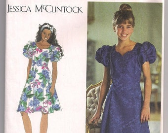 Girls Dress Pattern, Simplicity 9384 Princess Seams, Flared Skirt, Special Occasion, Party Dress Jessica McClintock  7 8 10 12 14
