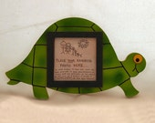 Turtle Picture Frame - Hand Painted Wooden Frame