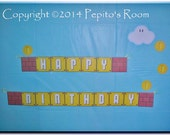 Print-INK Super Mario Bros. A La Carte 'Happy Birthday' Banner - DIY Digital Printable PDF