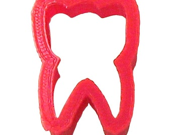 """MINI Tooth  cookie cutter  1.25"""" fondant cupcake cutter dentist dental cookie cutter"""